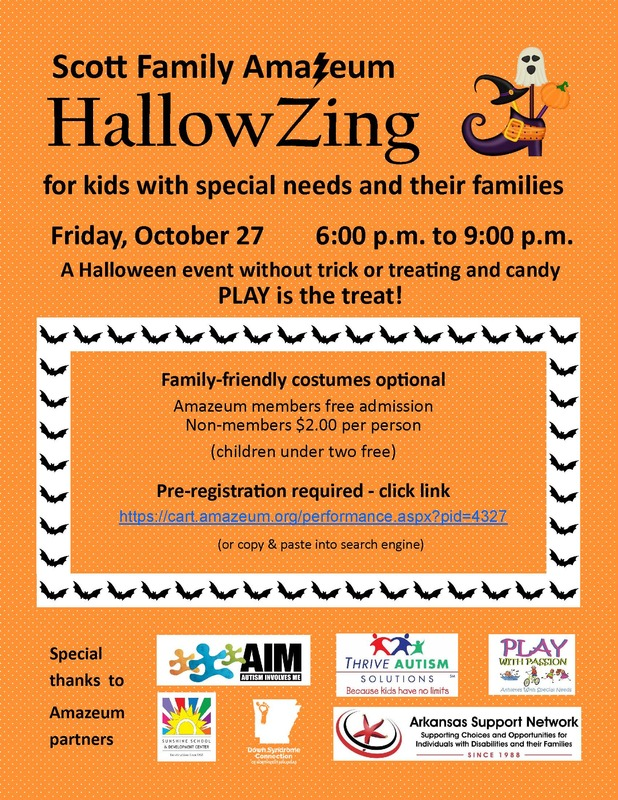 HallowZing Flyer with same information as above, orange background, witches shoe graphic with ghost and pumpkin